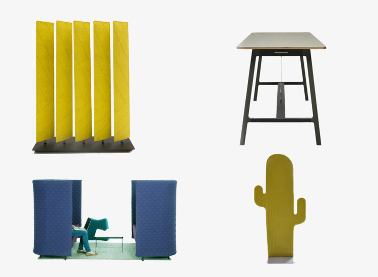 BuzziBlinds; Silta Table; Cloud Quilt; BuzziCactus; love your workspace