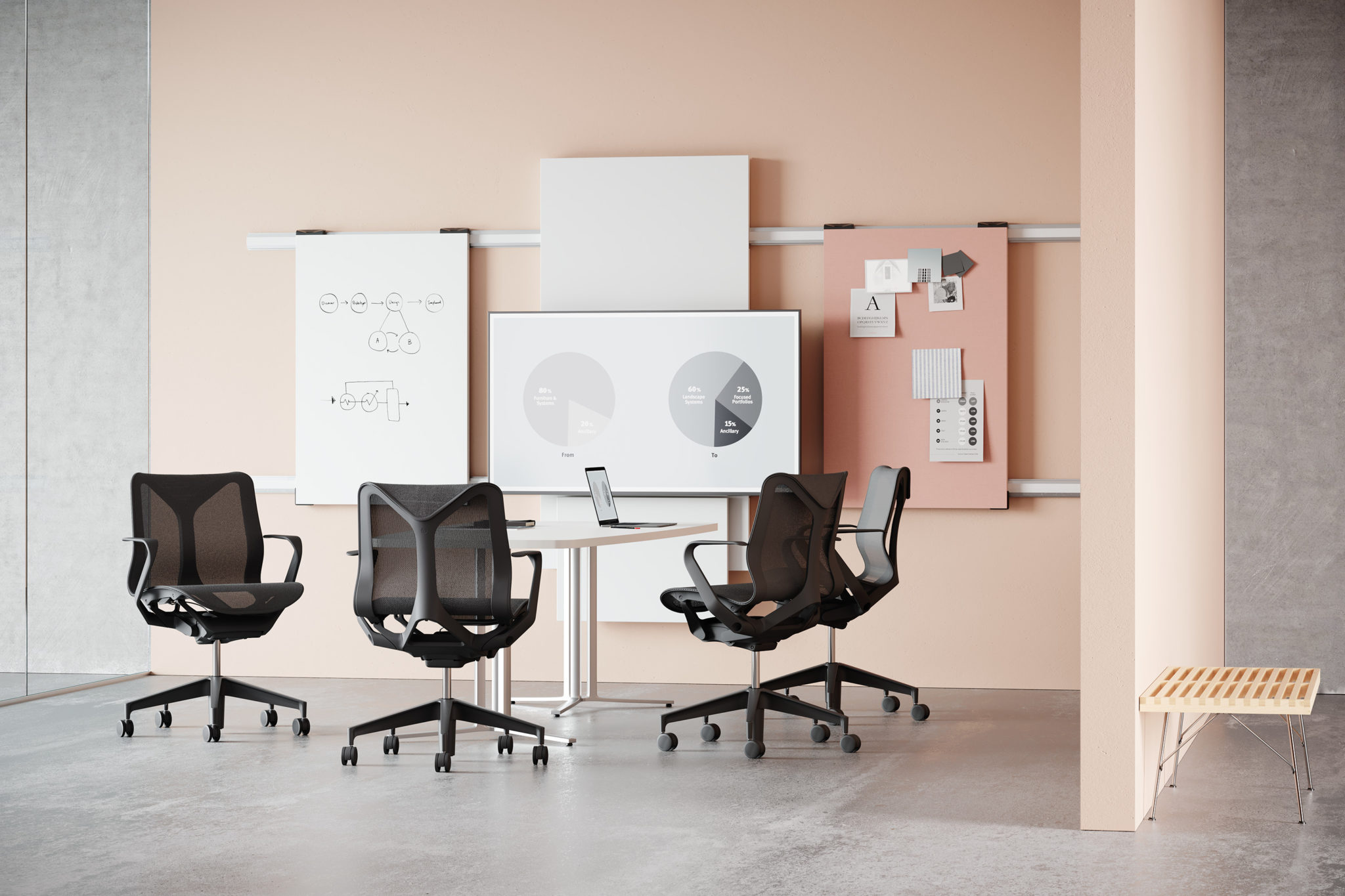 Herman Miller, Flip Top Table, Meeting Rooms, UK, Design