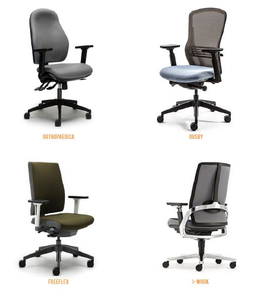 ergonomic office chairs, I-work chair, Ousby chair, freeflex chair, orthopaedica chair, backcare chair, office chair
