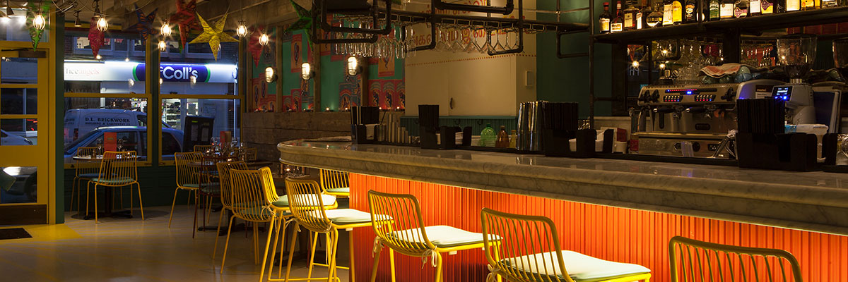 The Chilli Pickle, Guildford, Brighton, Indian, Restaurant, design, interior, furniture