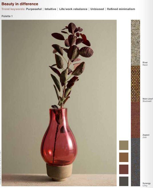 earthy tones, neutrals, office design, fabric trends, camira